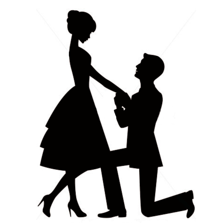 Engagement Proposal Png - Wedding Proposal Silhouette