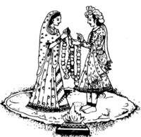 Indian Wedding Couple Png Black And White Transparent Images 4537