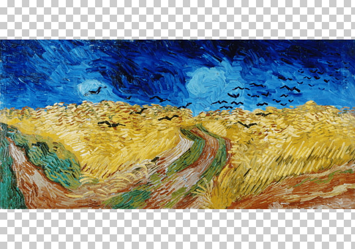 Road With Cypress And Star Png - Wheatfield with Crows Van Gogh Museum Road with Cypress and Star ...