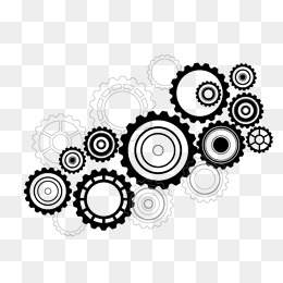 Gear Png Black And White - White Gear Png, Vectors, PSD, and Clipart for Free Download | Pngtree