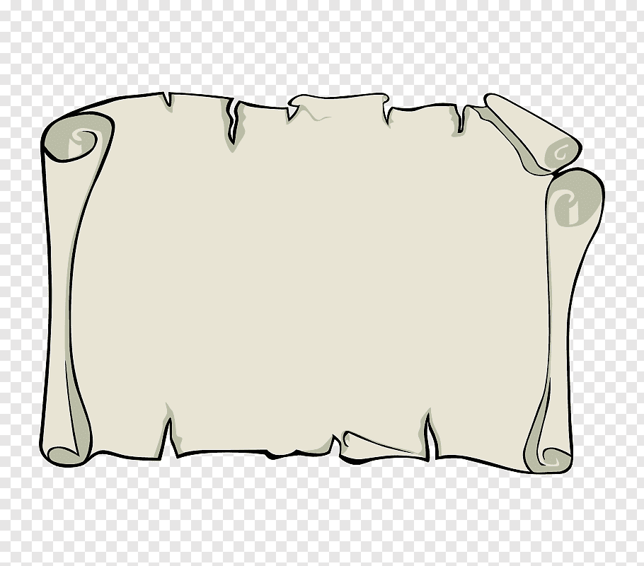 Paper Treasure Map Png - White paper roll art, Scroll Treasure map Piracy, Blank Parchment ...