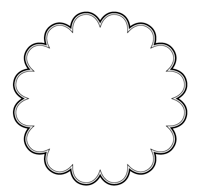 Scallop Shape Png - White Scalloped Edge Circle Png
