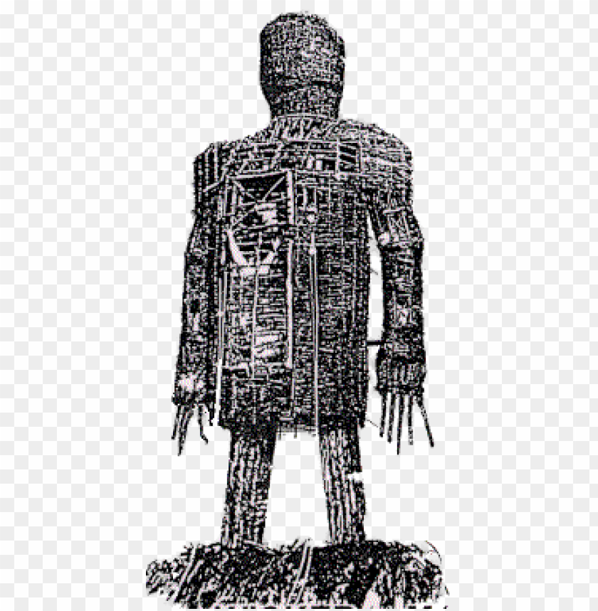 Wicker Man Png - wicker man black and white PNG image with transparent background ...