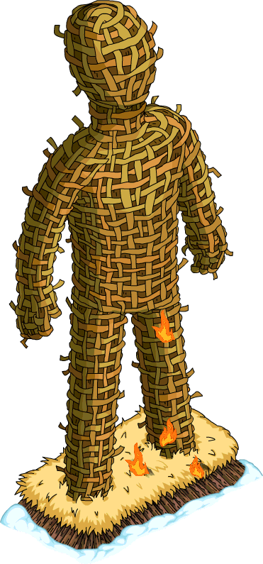 Wicker Man Png - Wickerman | The Simpsons: Tapped Out Wiki | Fandom