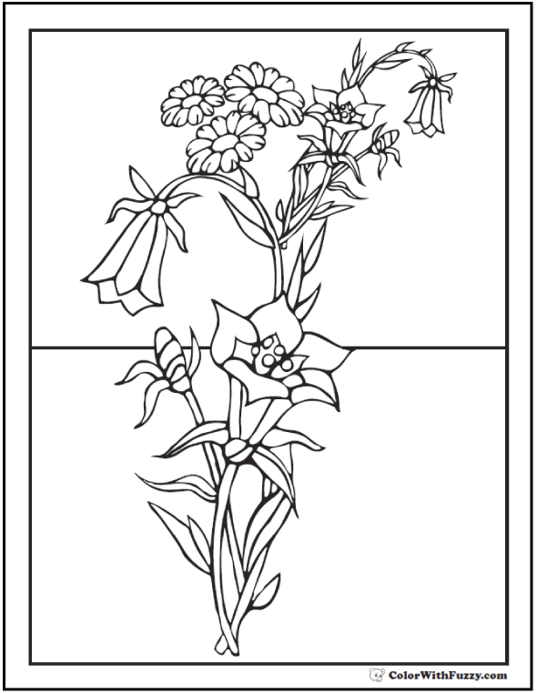 Hand Drawn Flowers And Butterflies For The Anti Stress Coloring ... | 762x590