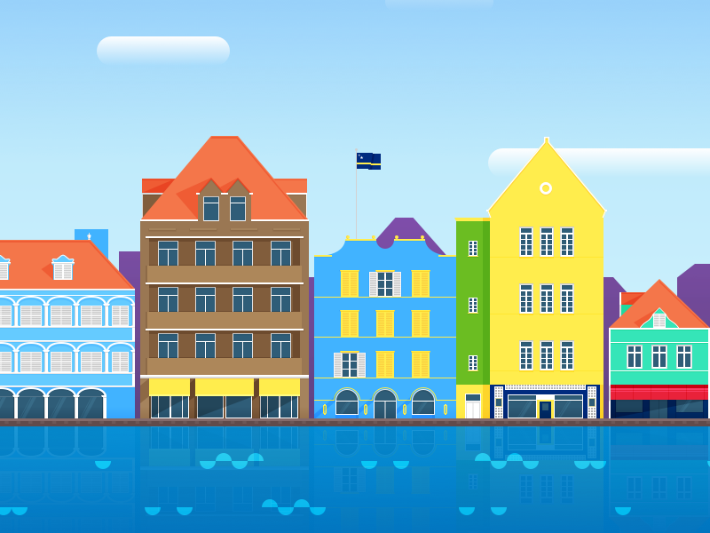 Willemstad Png - Willemstad, Curaçao by Christopher Downer on Dribbble