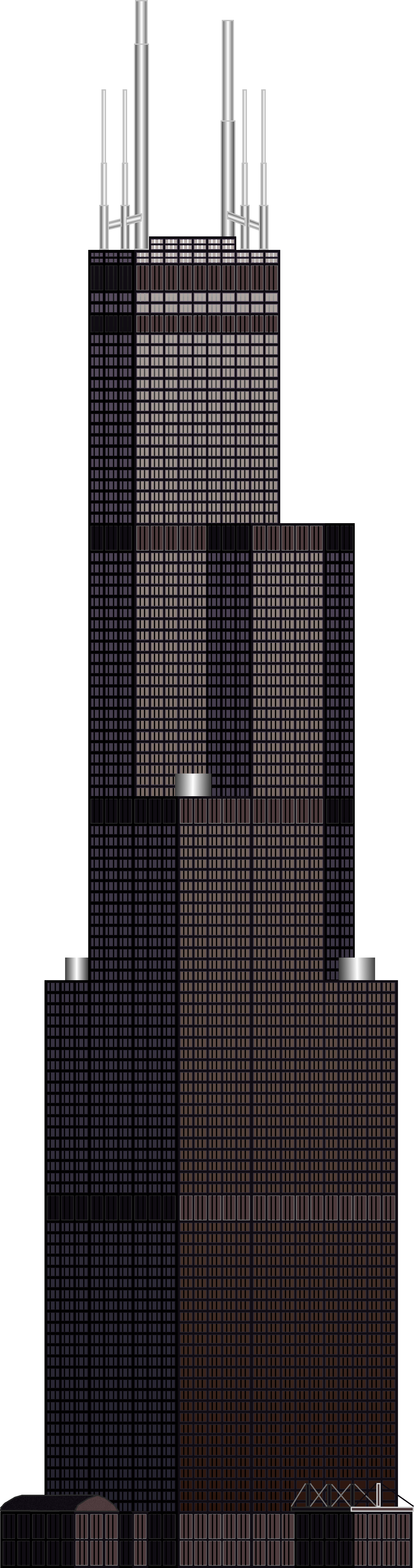 Chicago Sears Tower Clip Art
