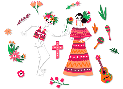 Festival Of The Dead Png - Win a Free Day of The Dead Themed Wedding | Arizona Taco Festival