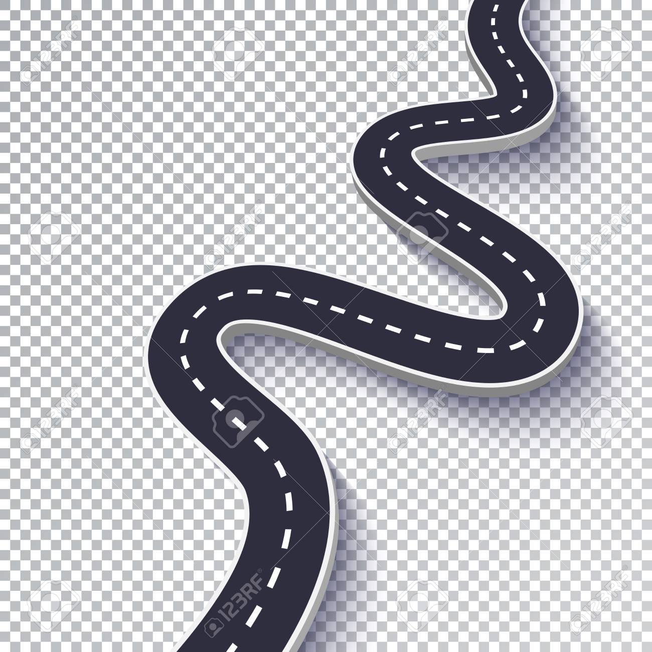 Windy Road Clip Art