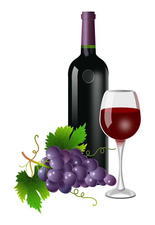 Wine Bottle And Grapes Png - Wine Bottle And Grapes Clipart