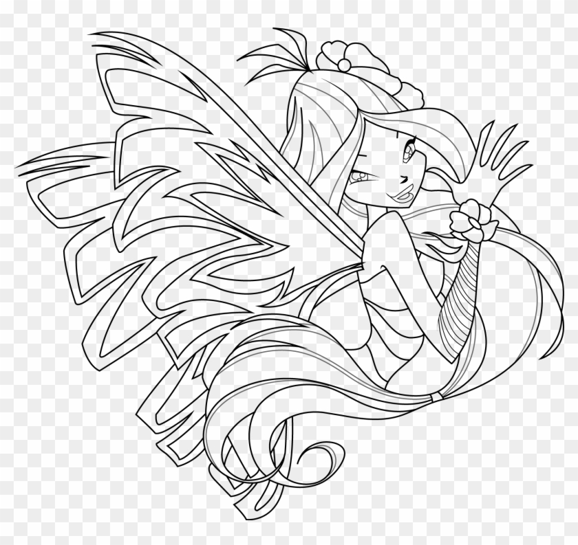 winx club coloring page for kids – littapes.com | 793x840