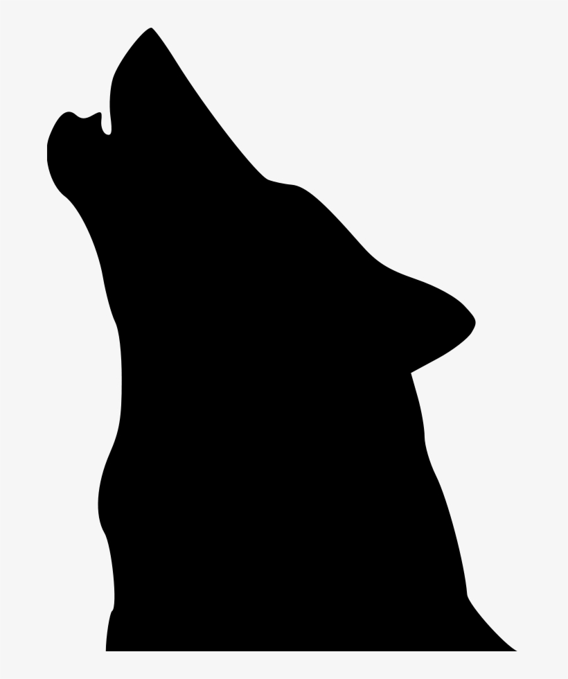 Wolf Head Silhouette Png - Wolf Clip Art - Howling Wolf Head Silhouette Transparent PNG ...