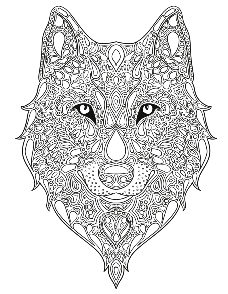 Wolf Coloring Pages For Adults Png - Wolf Coloring Pages | Fox coloring page, Animal coloring pages ...