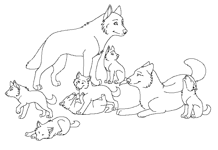 Wolf Coloring Pages For Adults Png - Wolf Coloring Pages (With images) | Puppy coloring pages, Animal ...