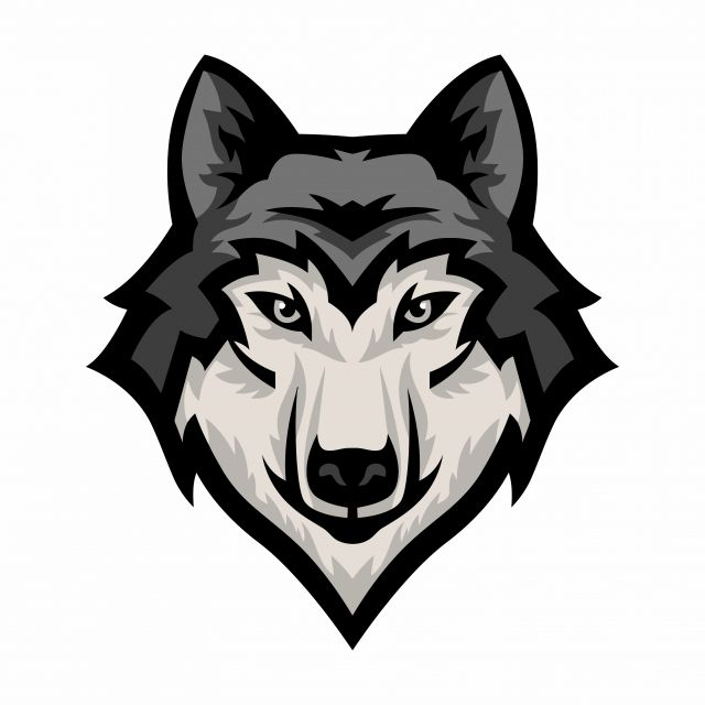 Wolf Head Silhouette Png - Wolf Head Mascot Logo Vector, Graphic, Mascot, Silhouette PNG and ...