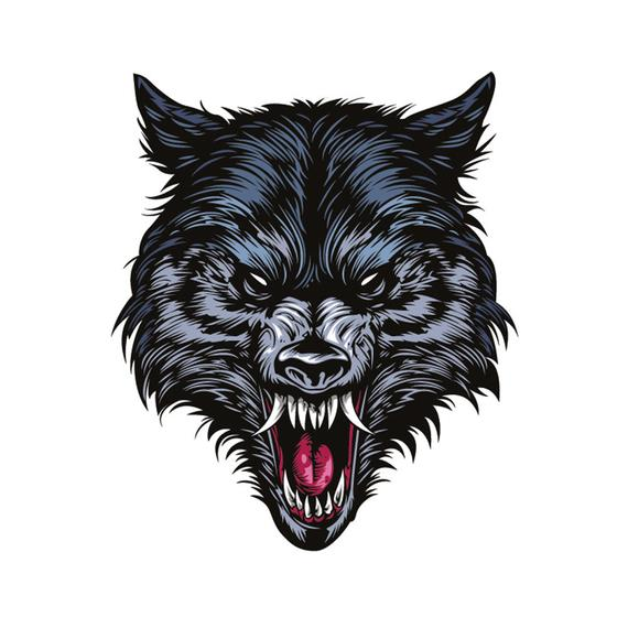Png Wolf Head - Wolf head tattoo tattooing download digital file svg png   PNGio
