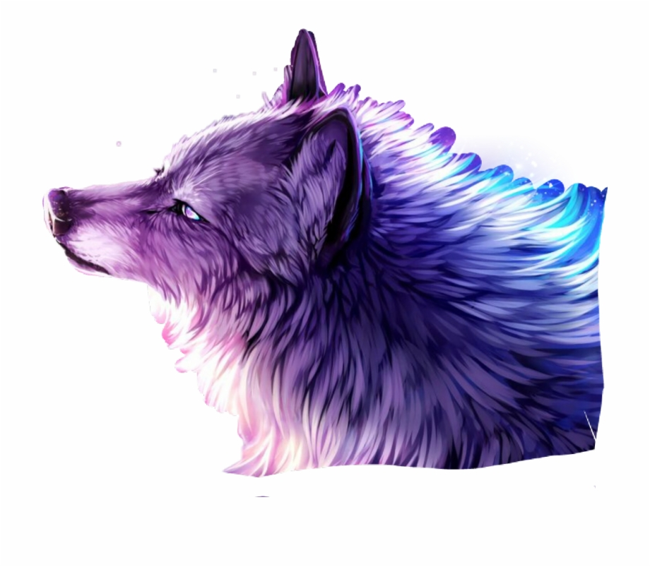 wolf purple sticker galaxy diamonds free png images clipart galaxy wolf png 920 803