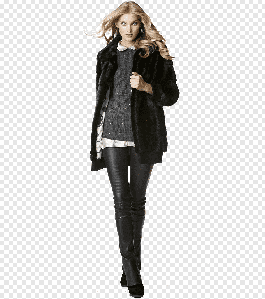 Woman Fashion Png - Woman holding her jacket, Model Fashion Trousers Leather, european ...