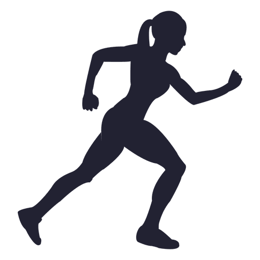 Png Of Girl Running - Woman running silhouette design - Transparent PNG & SVG vector