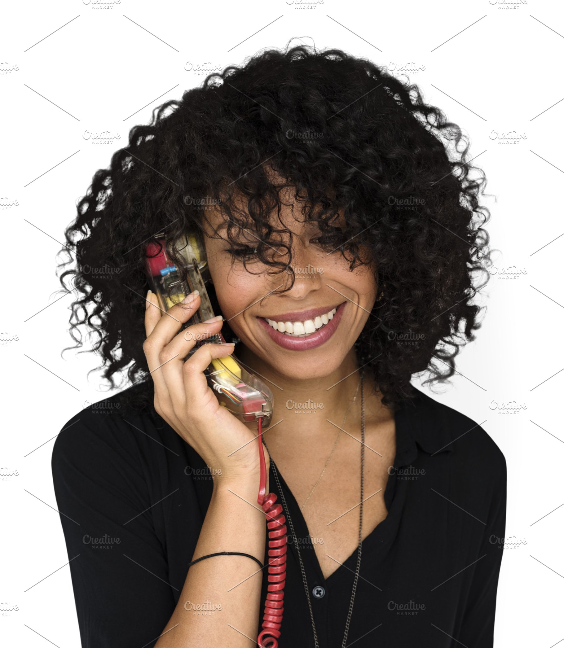 Woman Talking On Phone Png - woman talking on phone (PNG) ~ Photos ~ Creative Market