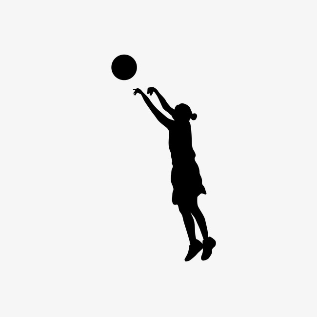 Women's Basketball Silhouette,vector, Ba #92396 - PNG Images