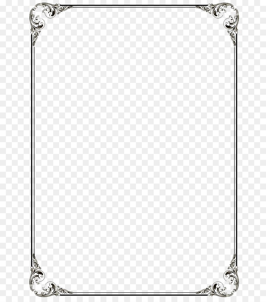 Word Border Templates Png Vectorborder 440846 Png Images Pngio