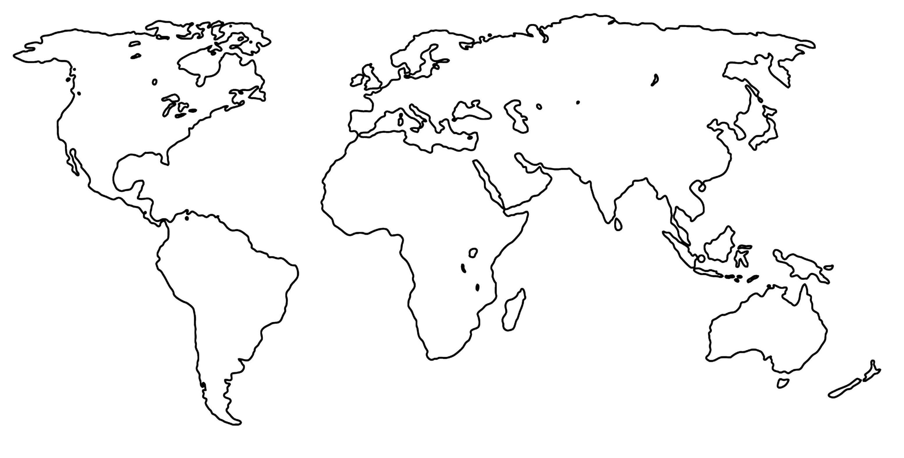 World Map Outline Png - AbeonCliparts | #754354 - PNG Images ...