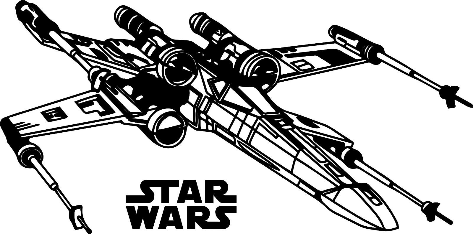 X Wing Clip Art - X wing clipart 4 » Clipart Station