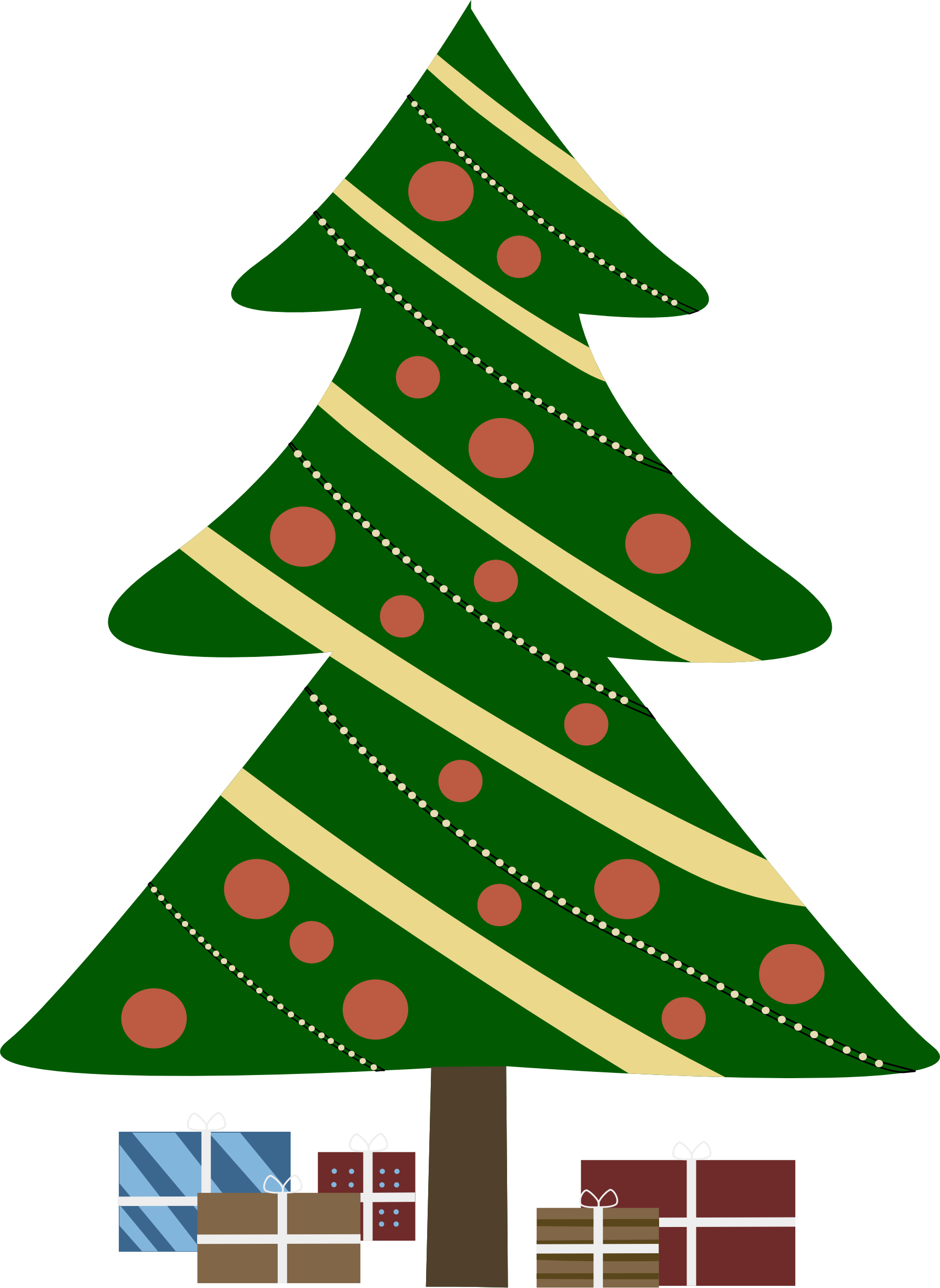 Cartoon Christmas Tree Png - Xmas Stuff For Animated Christmas Tree Png - Clip Art Library