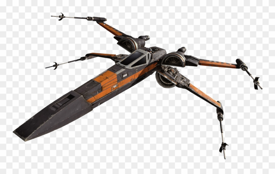 X Wing Clip Art - Xwing Png - Poe X Wing Transparent Clipart (#3298290) - PinClipart