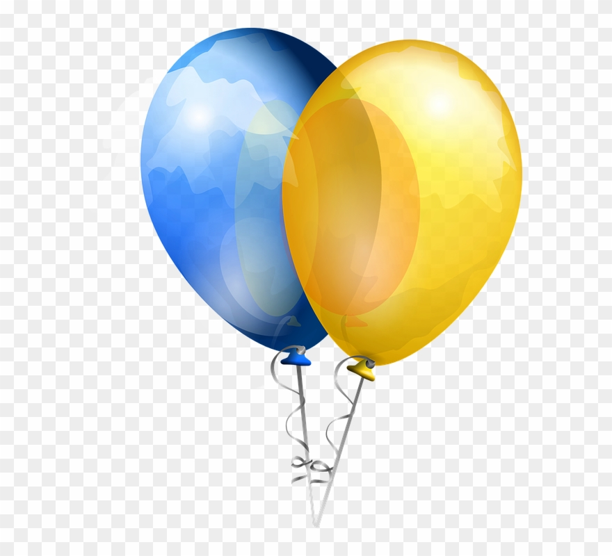 Yellow Balloons Png - Yellow Balloon Cliparts 7, Buy Clip Art - Blue And Yellow Balloons ...