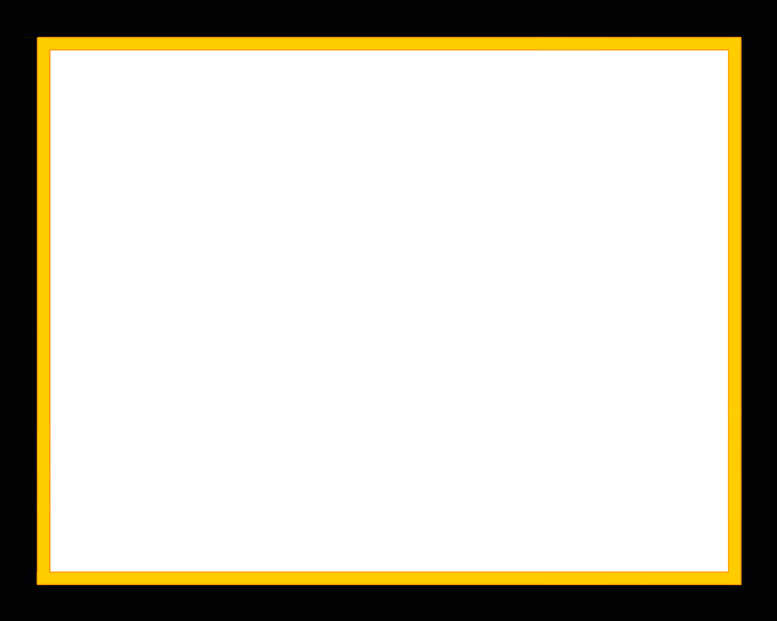 Yellow Frame Png - Yellow Border Frame Transparent PNG   PNG Mart