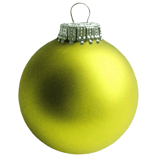 Christmas Bauble Png - Yellow Christmas Bauble transparent background ~ Free Png Images