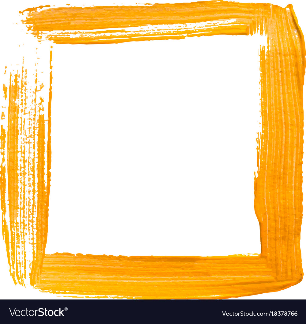 Square Frame Vector Png - Yellow painted square frame Royalty Free Vector Image