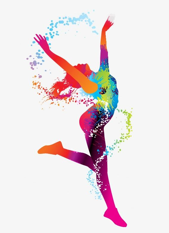 Dance Art Png - Youthful Silhouette Dancing Watercolor, Youth, Flying, Vitality ...