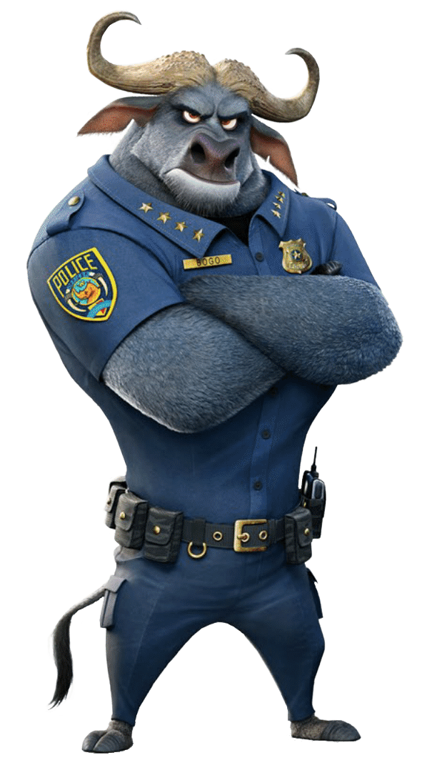 Chief Bogo Png - Zootopia Chief Bogo Arms Crossed transparent PNG - StickPNG