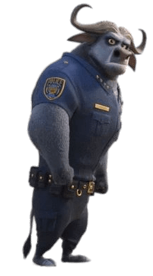 Chief Bogo Png - Zootopia Chief Bogo Side View transparent PNG - StickPNG